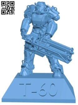 Fallout T-60 Power armor H000200 file stl free download 3D Model for CNC and 3d printer