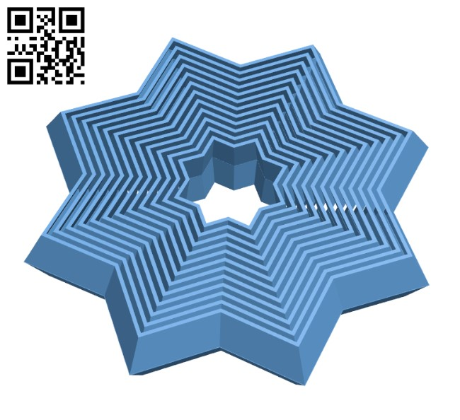 Fidget Star H000378 file stl free download 3D Model for CNC and 3d printer