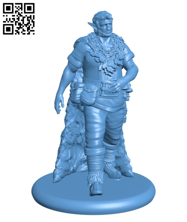 Firbolg Herbalist H000379 file stl free download 3D Model for CNC and 3d printer