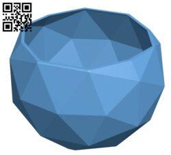 Flower Pot H000140 file stl free download 3D Model for CNC and 3d printer