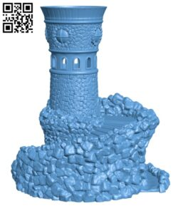 Forbidden Watchtower H000276 file stl free download 3D Model for CNC and 3d printer