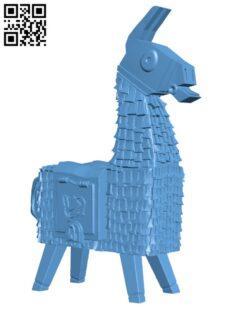 Fortnite Llama H000336 file stl free download 3D Model for CNC and 3d printer