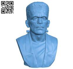 Frankenstein Monster H000366 file stl free download 3D Model for CNC and 3d printer