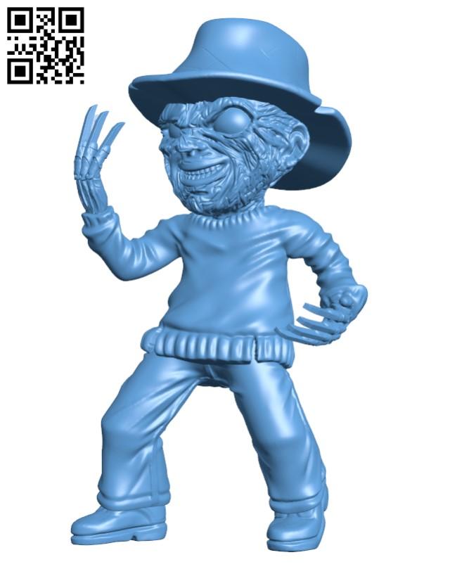 Freddy Krueger H000337 file stl free download 3D Model for CNC and 3d printer
