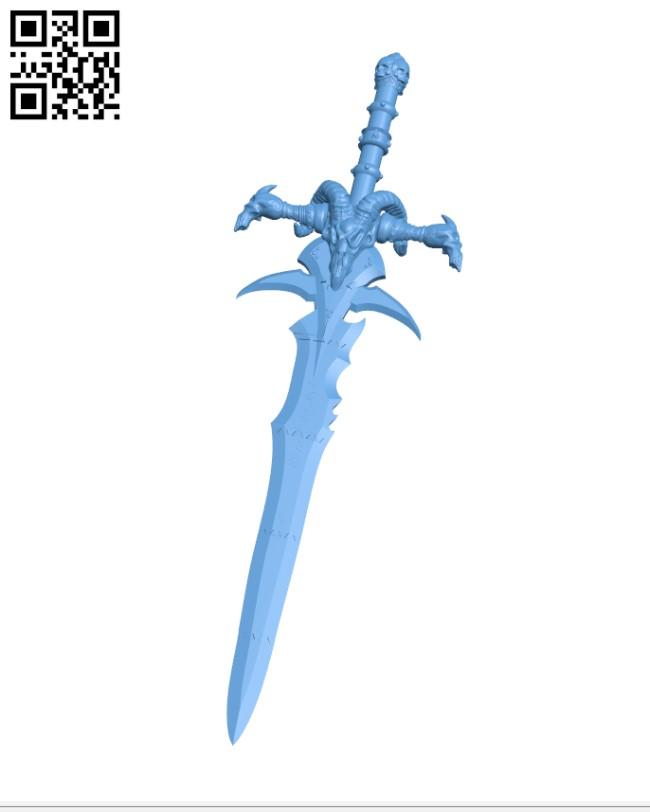 Frostmourne from Warcraft H000367 file stl free download 3D Model for CNC and 3d printer