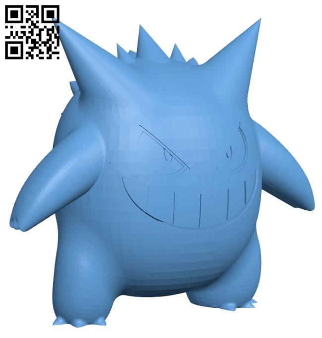 Gengar Pokemon H000278 file stl free download 3D Model for CNC and 3d printer