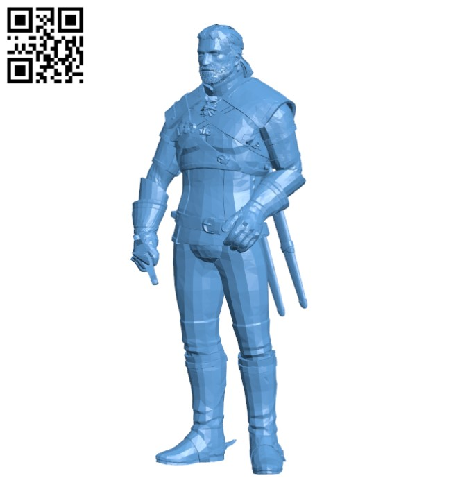 Geralt of Rivia H000001 file stl free download 3D Model for CNC and 3d printer