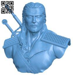 Geralt of Rivia H000201 file stl free download 3D Model for CNC and 3d printer