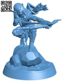 Goblin Archer H000175 file stl free download 3D Model for CNC and 3d printer
