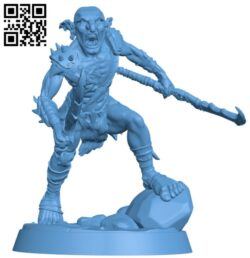 Goblin Fighter H000202 file stl free download 3D Model for CNC and 3d printer