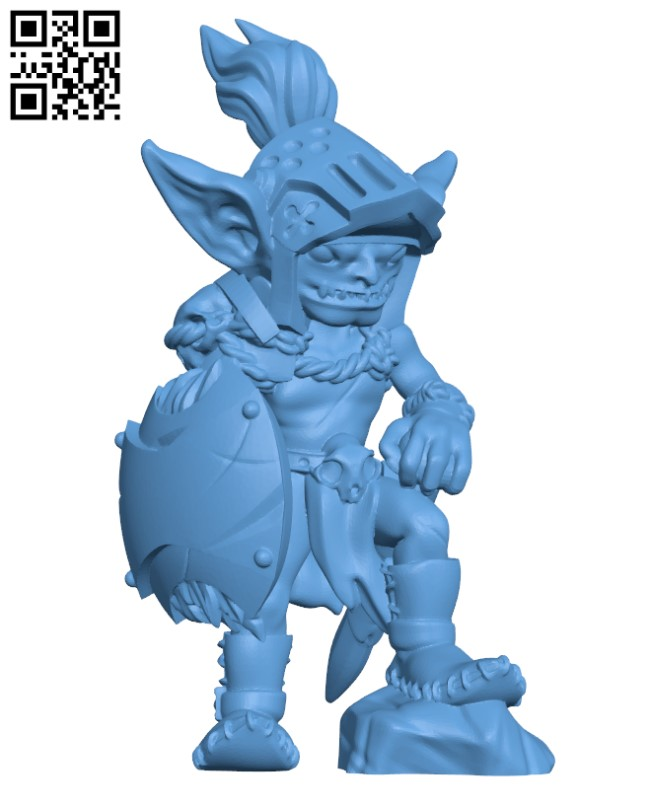 Goblin warrior knight H000369 file stl free download 3D Model for CNC and 3d printer