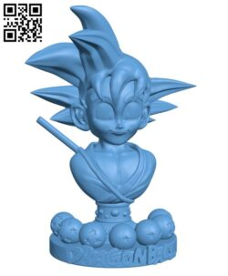Goku kid- Dragon ball H000370 file stl free download 3D Model for CNC and 3d printer