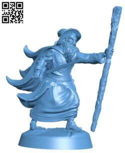 Gollnir the Wizard H000007 file stl free download 3D Model for CNC and 3d printer