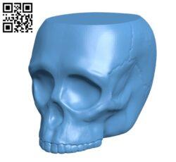 Grim Skull Vase H000265 file stl free download 3D Model for CNC and 3d printer