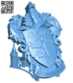 Gryffindor Coat of Arms Wall – Harry Potter H000279 file stl free download 3D Model for CNC and 3d printer