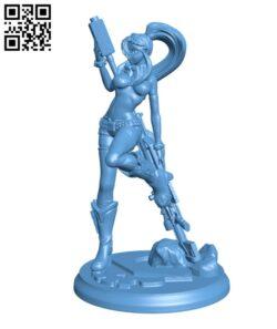 Gurren Lagann – Yoko Littner H000455 file stl free download 3D Model for CNC and 3d printer