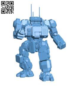 HGN-732 Highlander for Battletech – Robot H000456 file stl free download 3D Model for CNC and 3d printer