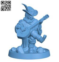 Halfling Bard H000234 file stl free download 3D Model for CNC and 3d printer