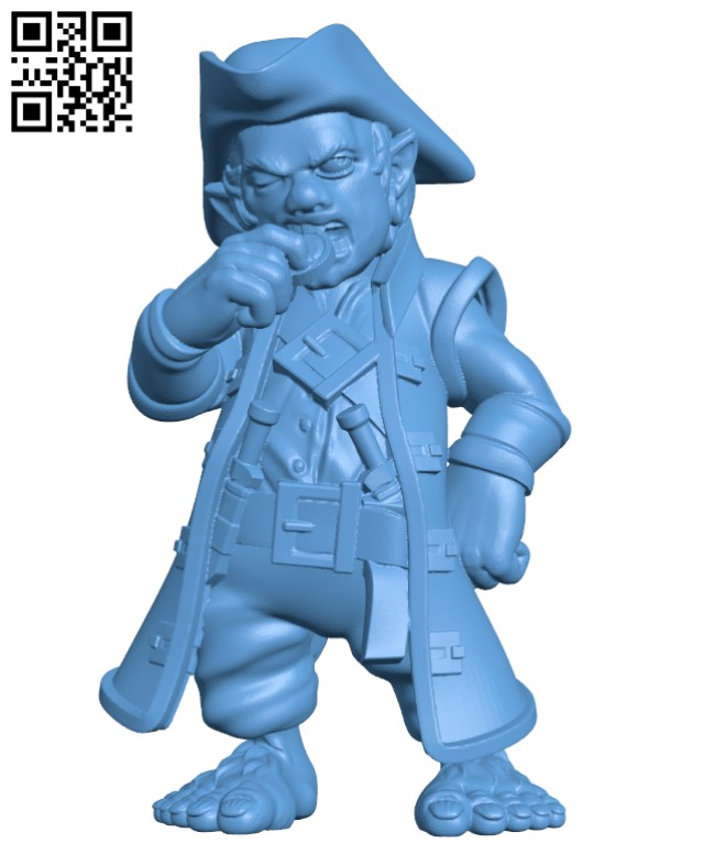 Halfling Pirate -Cabbn H000339 file stl free download 3D Model for CNC and 3d printer