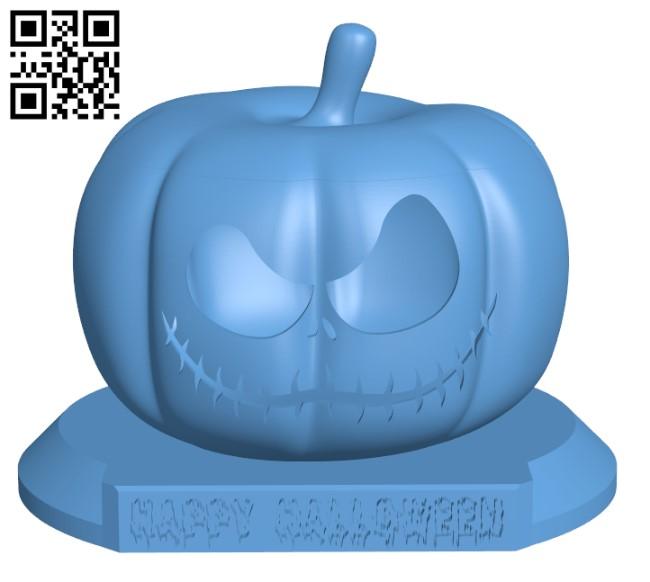 Halloween pumpkin H000438 file stl free download 3D Model for CNC and 3d printer