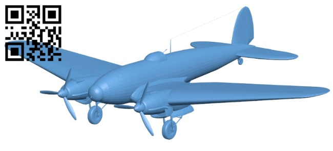 Heinkel He 111 - plane B009619 file stl free download 3D Model for CNC and 3d printer