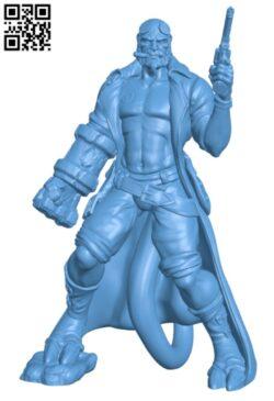Hellboy H000176 file stl free download 3D Model for CNC and 3d printer