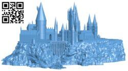 Hogwarts Castle H000118 file stl free download 3D Model for CNC and 3d printer