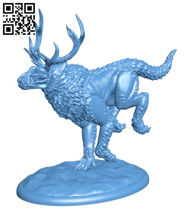 Horned Hound H000371 file stl free download 3D Model for CNC and 3d printer