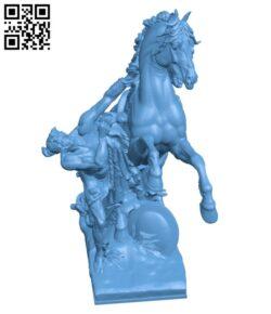 Horseman at Maria-Theresia-Platz H000340 file stl free download 3D Model for CNC and 3d printer