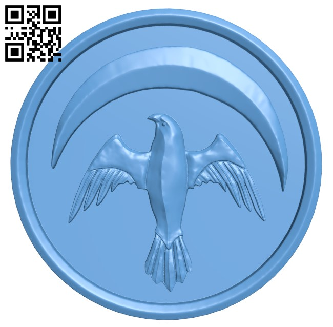 House Arryn Game Of Thrones H000063 file stl free download 3D Model for CNC and 3d printer