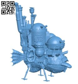 Howl's Moving Castle H000268 file stl free download 3D Model for CNC and 3d printer
