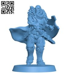Human male fighter with attack hamster H000457 file stl free download 3D Model for CNC and 3d printer