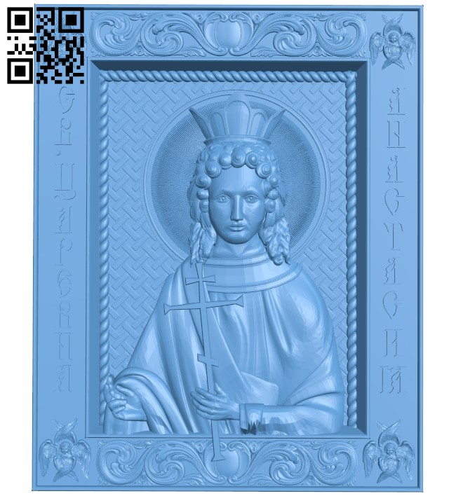 Icon Anastasia Tsarevna A006566 download free stl files 3d model for CNC wood carving