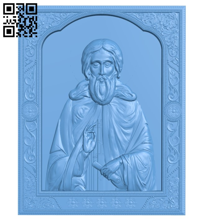 Icon Saint Sergius A006567 download free stl files 3d model for CNC wood carving