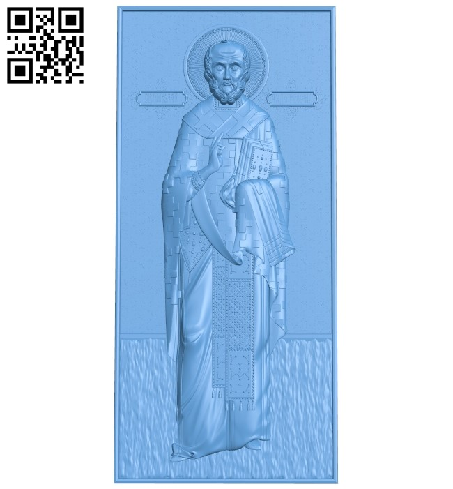 Icon of St. Nicholas the Wonderworker A006563 download free stl files 3d model for CNC wood carving