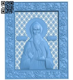 Icon of the Holy Blessed Prince Oleg Bryansk A006568 download free stl files 3d model for CNC wood carving
