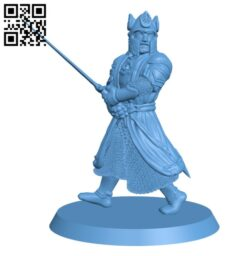 Isildur from the lord of the ring H000441 file stl free download 3D Model for CNC and 3d printer