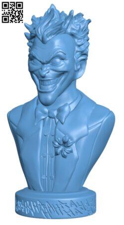 Joker bust H000203 file stl free download 3D Model for CNC and 3d printer