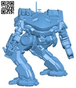 KGC-010 King Crab for Battletech H000204 file stl free download 3D Model for CNC and 3d printer
