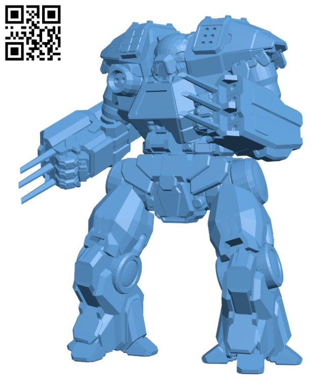 Kodiak Prime for Battletech H000307 file stl free download 3D Model for CNC and 3d printer