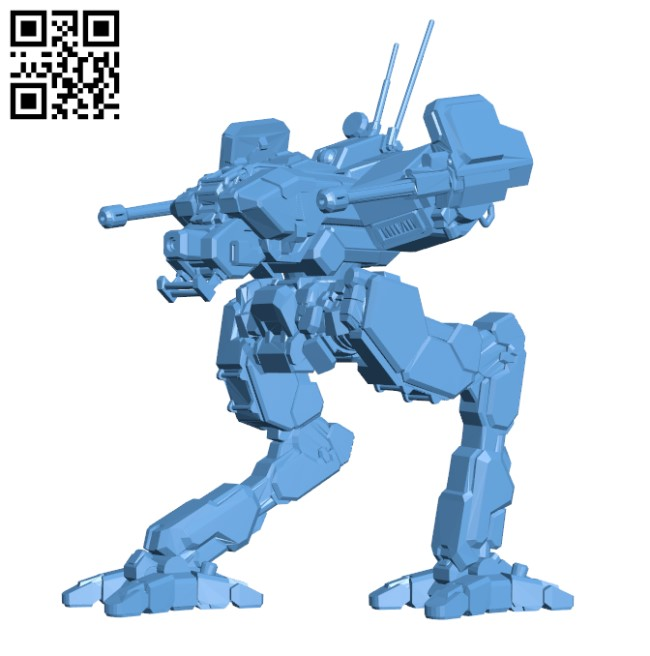 LCT-1V Locust for Battletech H000236 file stl free download 3D Model for CNC and 3d printer