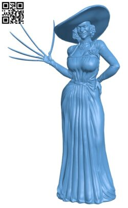 Lady Dimitrescu H000122 file stl free download 3D Model for CNC and 3d printer
