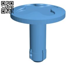 Lawnmower lower handle fixing pins H000031 file stl free download 3D Model for CNC and 3d printer