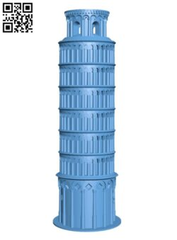 Leaning Tower of Pisa H000407 file stl free download 3D Model for CNC and 3d printer