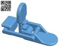Lever Latch With Locking System H000206 file stl free download 3D Model for CNC and 3d printer