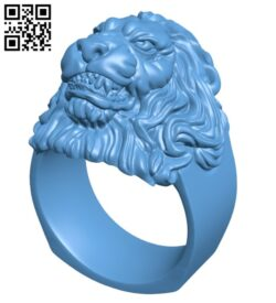 Lion Ring H000308 file stl free download 3D Model for CNC and 3d printer