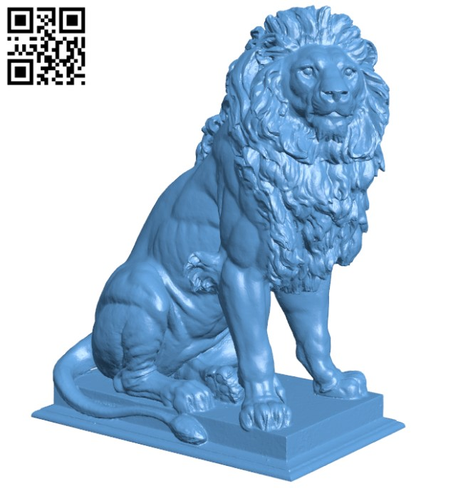 Lion at the entrance of the Palace of Justice in Vienna H000270 file stl free download 3D Model for CNC and 3d printer