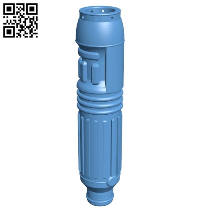 Mace Windu's Lightsaber H000032 file stl free download 3D Model for CNC and 3d printer