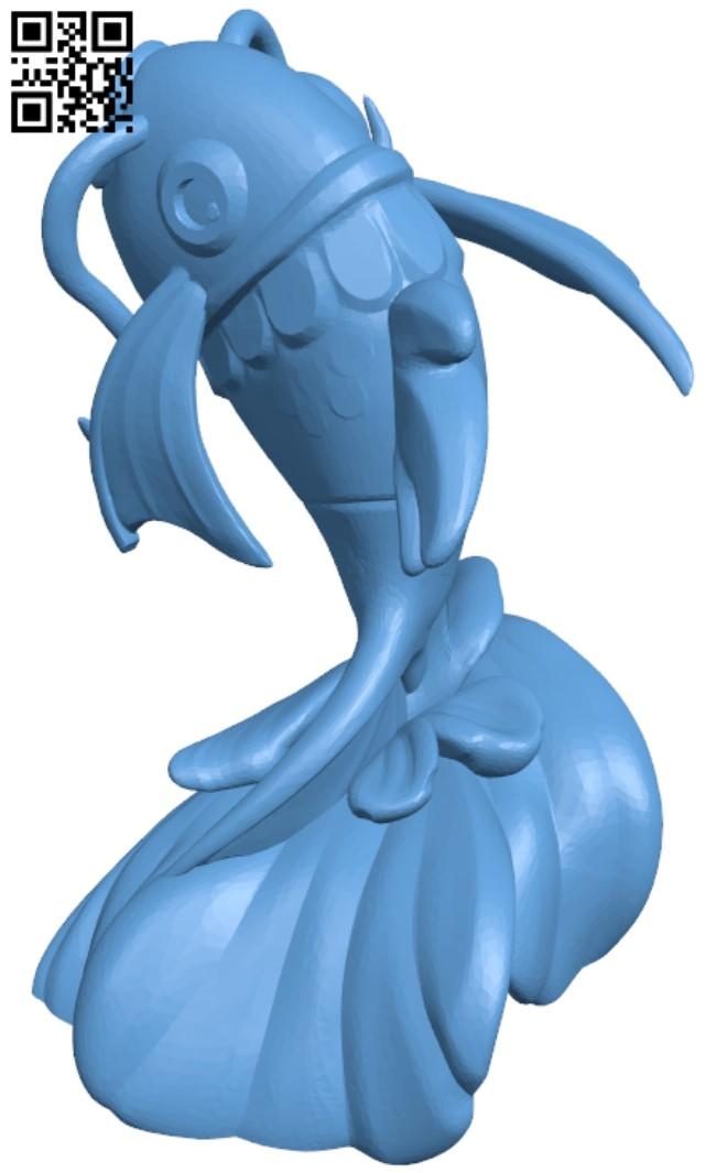 Magikarp Pokemon H000008 file stl free download 3D Model for CNC and 3d printer