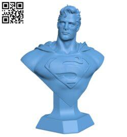 Man of Steel Bust – Superhero H000237 file stl free download 3D Model for CNC and 3d printer